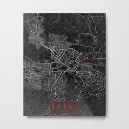 Kabul, Afghanistan City Map - Oriental  Metal Print