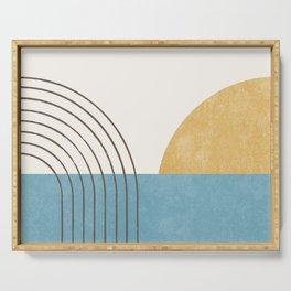 Sunny Ocean Horizon Serving Tray