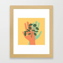 Plant Lovers - Hands On Illustration Framed Art Print