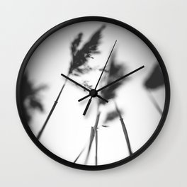 Anticipation - BW Wall Clock