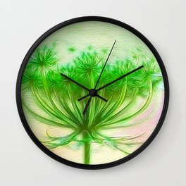 Queen Anne lace Wall Clock