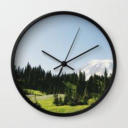 Mt Rainier Shooter Wall Clock