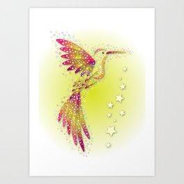 Bubble Bird 2 Art Print