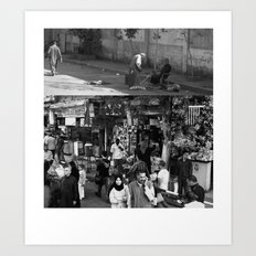 Street collage Art Print