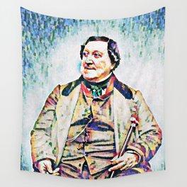 Gioachino Antonio Rossini (1792 – 1868) (digitized photography from 1865) Wall Tapestry