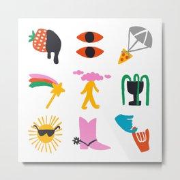 Relevant Symbols Metal Print