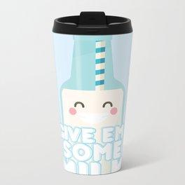 Give Em' Some Milk Metal Travel Mug