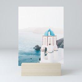 Santorini Greece Mamma Mia Church Photography Mini Art Print