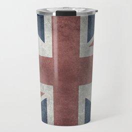 UK Flag, Grungy Desaturated 3:5 scale Travel Mug