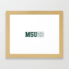 Michigan State Class of 2023 Framed Art Print
