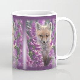 Red Fox Pup - Foxgloves Coffee Mug