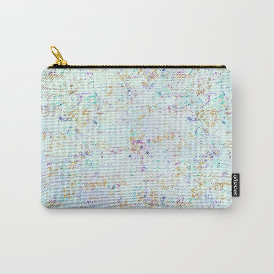 Swirls gold teal lavender Carry-All Pouch
