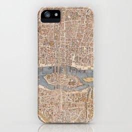 Vintage Map of Paris (1550) iPhone Case