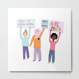 girls supporting girls Metal Print