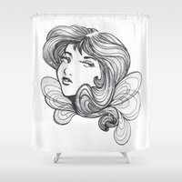 gray Shower Curtains featuring Gray by Virginia Skinner