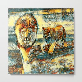 AnimalArt_Lion_20171017_by_JAMColors Metal Print