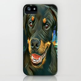 Rottweiler Pup - Waiting for the Train iPhone Case