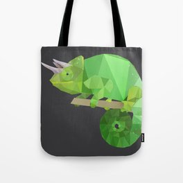 Low Poly Chameleon Tote Bag