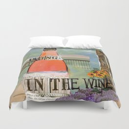 Bring in the Wine Duvet Cover
