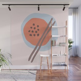 Frugal Food Blue Retro Wall Mural