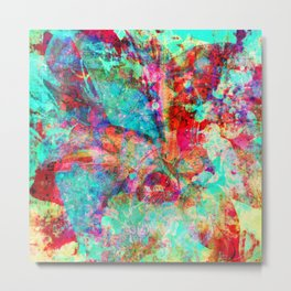 abstract orchid Metal Print