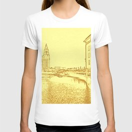 Liver Building from Princes Dock (Digital Art) T-shirt