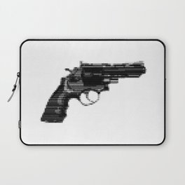 8bit glitch 357 Magnum Revolver Laptop Sleeve