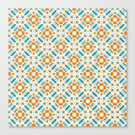 Origami Petals, blue and orange Canvas Print