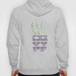 Potted Patterned Cacti Hoody