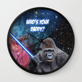 gorilla is your father Wall Clock