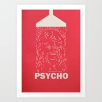 psycho Art Prints featuring Psycho by Comicord