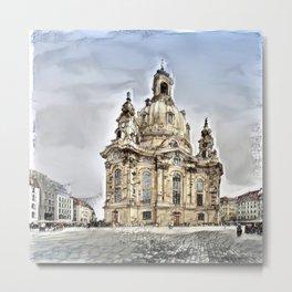 Dresdner Frauenkirche Metal Print