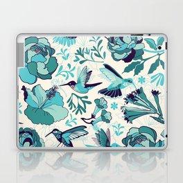 Hummingbird summerdance, Blue Laptop & iPad Skin