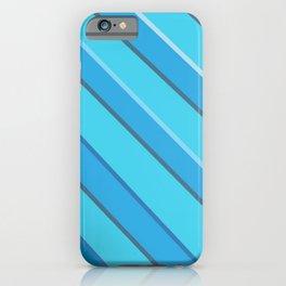 Blue diagonals iPhone Case