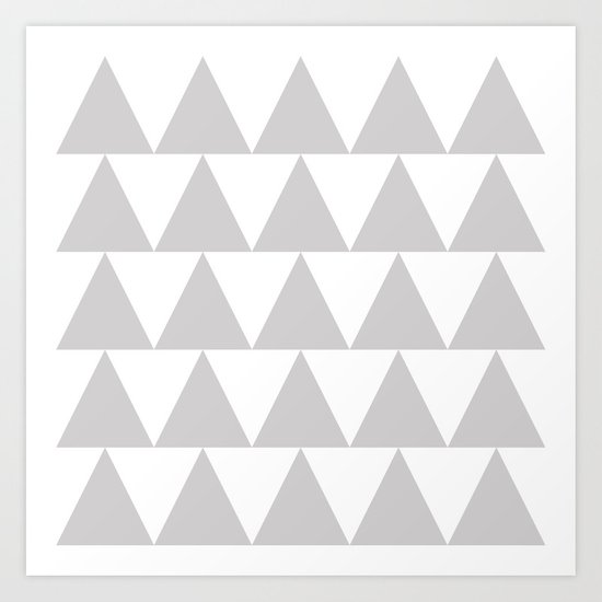 Grey Triangle /// www.pencilmeinstationery.com Art Print