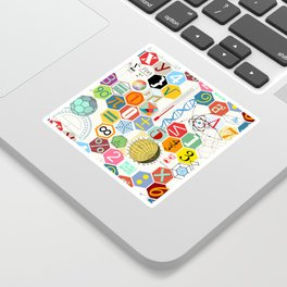 Math in color (white Background) Sticker