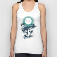 man Tank Tops featuring Burn the midnight oil  by Picomodi