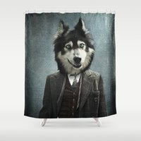 alex turner Shower Curtains featuring Alex by ppatphoto