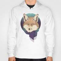 fox Hoodies featuring Fox by Laura Graves