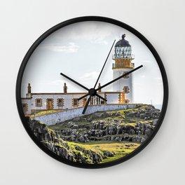 Lighthouse at Neast Point, Isle of Skye, Scotland Wall Clock