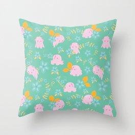 Flap Back - Teal & Pink Throw Pillow
