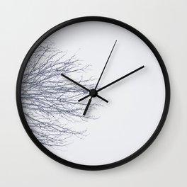 trees blue Wall Clock