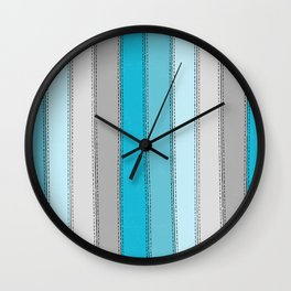 Blue Lines Wall Clock
