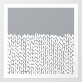 Half Knit Grey Art Print