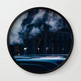 Smoke Building New York City (Color) Wall Clock