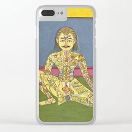 Sapta Chakra, from a Yoga Manuscript Clear iPhone Case