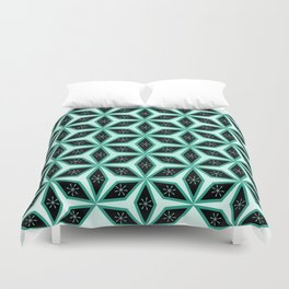 Diamond pattern in blue Duvet Cover