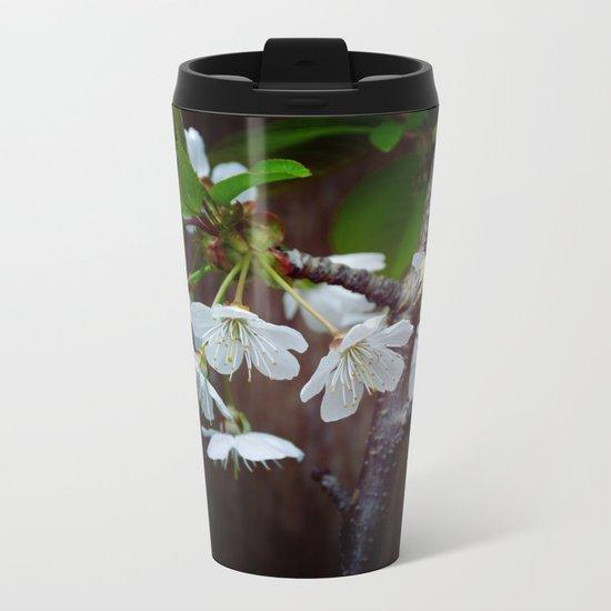 The beauty of Cherry flowers Metal Travel Mug