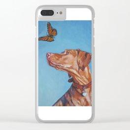 VIZSLA dog art portrait from an original painting by L.A.Shepard Clear iPhone Case