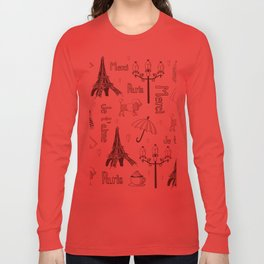 Paris Girl Long Sleeve T-shirt